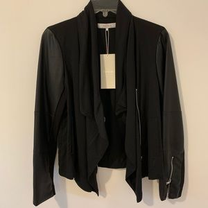 Zara Pleather Sleeve Jacket